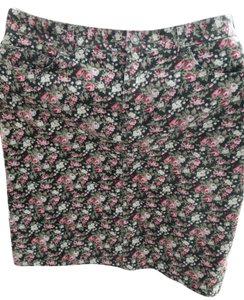 Jones New York Of Ny Skirt pink & green floral