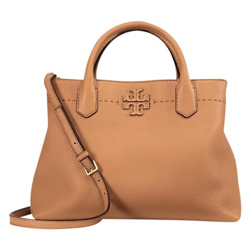 6adf082a6921 Tory Burch Mcgraw Triple-compartment Tan Leather Satchel - Tradesy