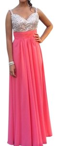 La Femme Prom Pink Coral Formals Sequins Dress