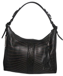 Cole Haan Leather Braided Trim Hobo Bag