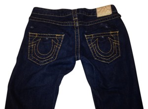 True Religion Gold Stitch Straight Leg Jeans-Dark Rinse