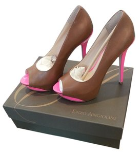 Enzo Angiolini , pink and tan Pumps