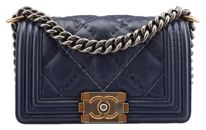 Chanel Le Boy Stitch Lambskin Quilted Shoulder Bag