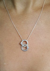 Other Beautiful Circle of life CZs pendant with sterling silver necklace