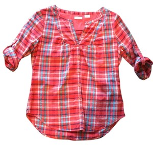 Cooperative Button Down Shirt Red plaid