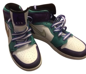 Nike Dunk High High Top white, purple, green Athletic