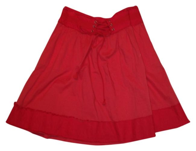 Armani Exchange Red Outfit Designer Perfect Skirt Coral