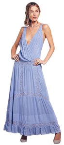Free People Oberoi Sz Xs Azure Blue Dress