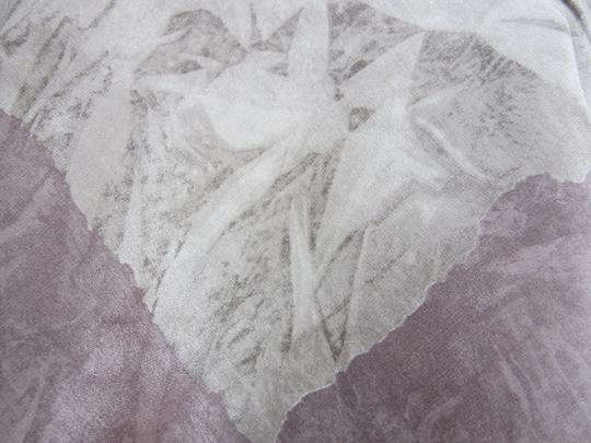 Other Purple & Grey Intricate Delicate Floral Design 100% Natural Silk Scarf