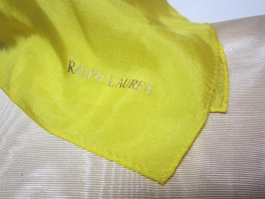 Ralph Lauren Ralph Lauren Bright Yellow Sheer Silk Blend Handkerchief