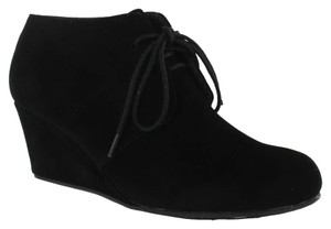Red Circle Footwear Laceup Casual Cute To School Daily Black Wedges