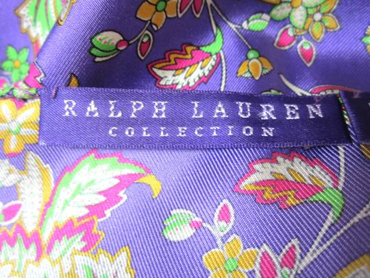 Ralph Lauren Ralph Lauren Purple Pink Green & Yellow Floral Pattern 100% Silk Handkerchief