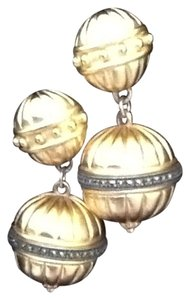 Other Vintage Faux Gold Ball Drop Earrings