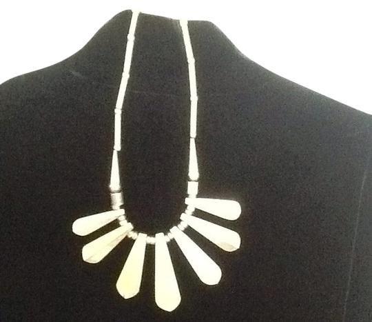 Other Part Silver Tear Drop Necklace