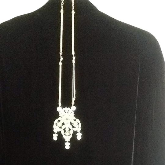 Other Faux Emerald And Rhinestone Drop Necklace