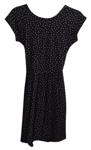 Zara short dress Black with white little stars Fit And Flare Skater Party on Tradesy