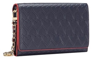 Tory Burch Leather; 100% Guaranteed Or Your Money Back! Medium Navy Clutch