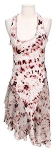 Rachel Roy short dress Pink & White Tie Dye Asymmetric on Tradesy