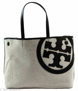 649a1271995a Tory Burch Lonnie Canvas Leather Large Lonnie Canvas Lonnie Purse Crossbody  Canvas Black Large Large Lonnie