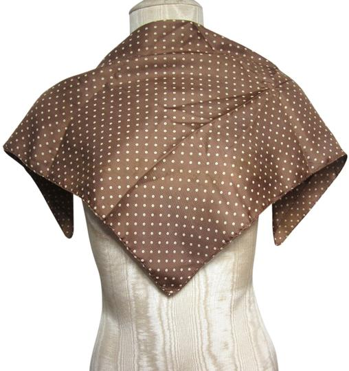 Other Brown and Creme Tiny Bubble Polka Dotted Pattern Handkerchief