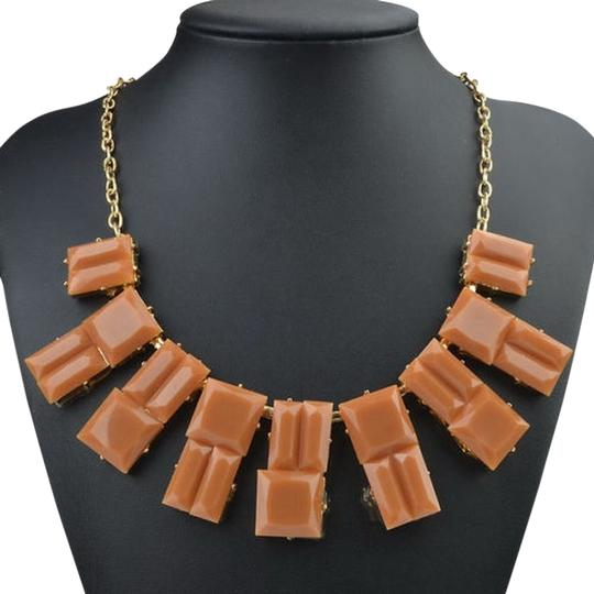 Other BROWN STYLISH STATEMENT NECKLACE