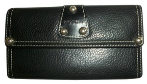 Bosca Bosca Wallet Black Leather Credit Card Clutch