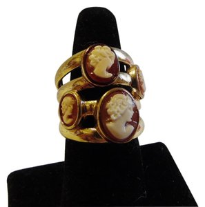 AMEDEO AMEDEO Four Cameo Band Ring Size 9