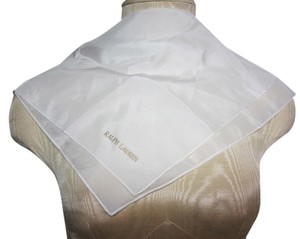 Ralph Lauren Ralph Lauren Sheer White Handkerchief with Gold Signature Logo
