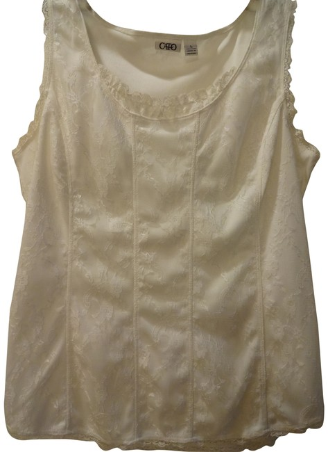 Preload https://item1.tradesy.com/images/cato-cream-night-out-top-size-12-l-761410-0-1.jpg?width=400&height=650