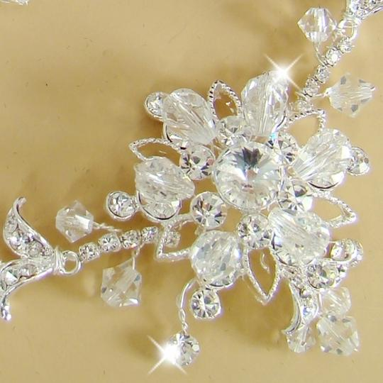 Elegance by Carbonneau Silver Couture Crystal Jewelry Set