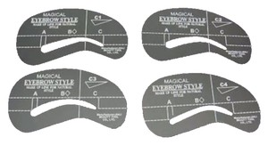 myflyingboutique Four Styles Eyebrow Grooming Stencil Kit