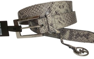 Michael Kors Michael Kors Belt Python Embossed Print -L- Leather Textured