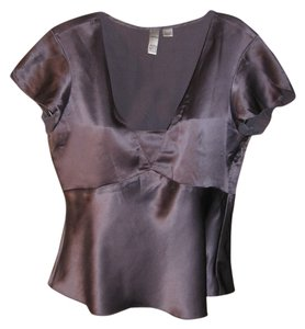 DKNY Silk Top purple