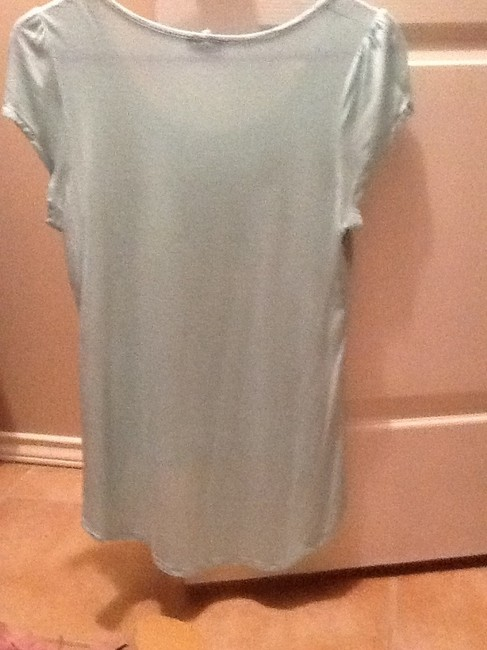 Celine by Champion Spring Pretty Feminine Floral Top Light blue and gold