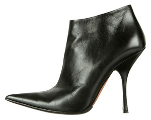 ALAÏA Pointed Toe Ankle Leather Alaia Black Boots