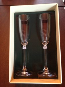 Ralph Lauren Glass Vows Toasting Flutes