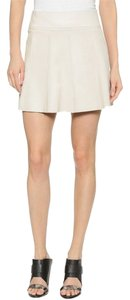 Vince New Leather Leather Mini Skirt Beige
