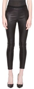 Helmut Lang Stretch Leather Black Leggings