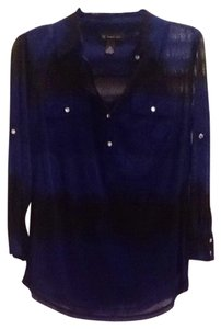 INC International Concepts Top blue and black