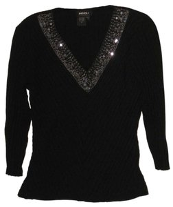 Radzoli Embroidered Sequin Top black