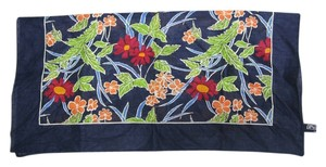 Ralph Lauren Polo by Ralph Lauren Navy Blue Floral Patterned Bandana Wrap