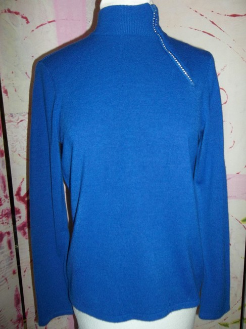 Designers Originals Designers Petite Xl Crystal Zipper Sweater