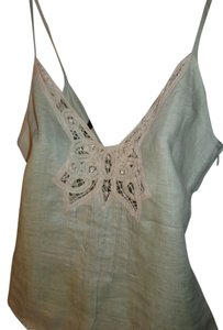 Carole Little Lace Applique Embroidered Hem Top light green, pistachios