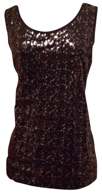 Liz Claiborne Top Black And Silver