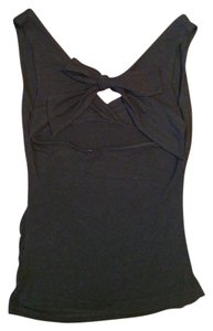 Papaya Sexy Open-back Bow Top Black