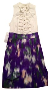 Shoshanna short dress Purple on Tradesy