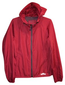 Eddie Bauer Wind Breaker Spring Fall Autumn Light Dark Brick Red Jacket