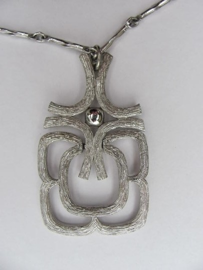 Other BRUSHED SILVER PENDANT NECKLACE