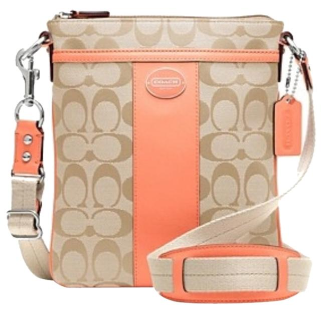 Item - Coral Pink Canvas Cross Body Bag