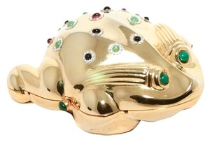 Judith Leiber Minaudiere Frog gold Clutch